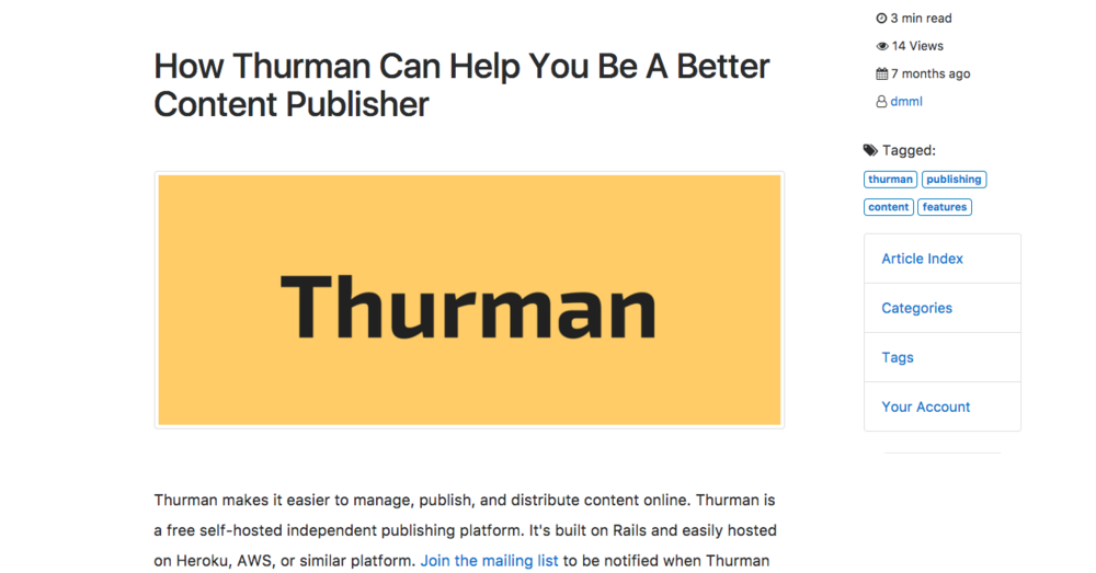 Thurman publisher